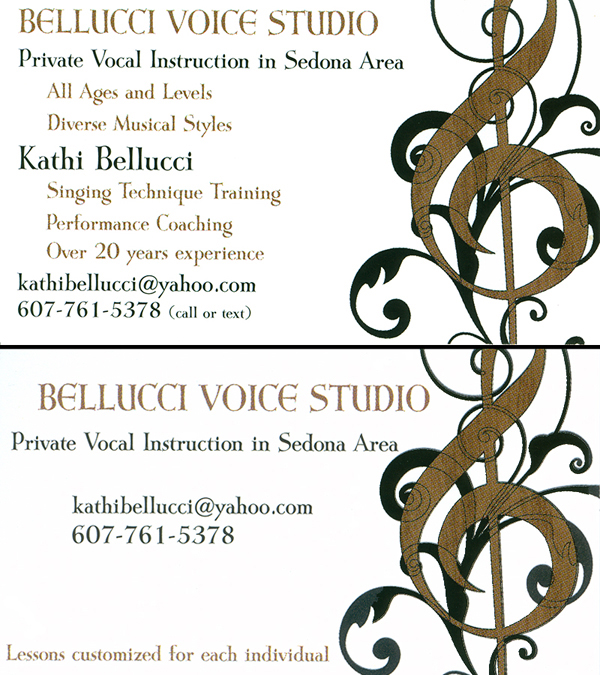 Kathi Bellucci - Bellucci Voice Studio - Private Vocal Instruction in the Sedona Area